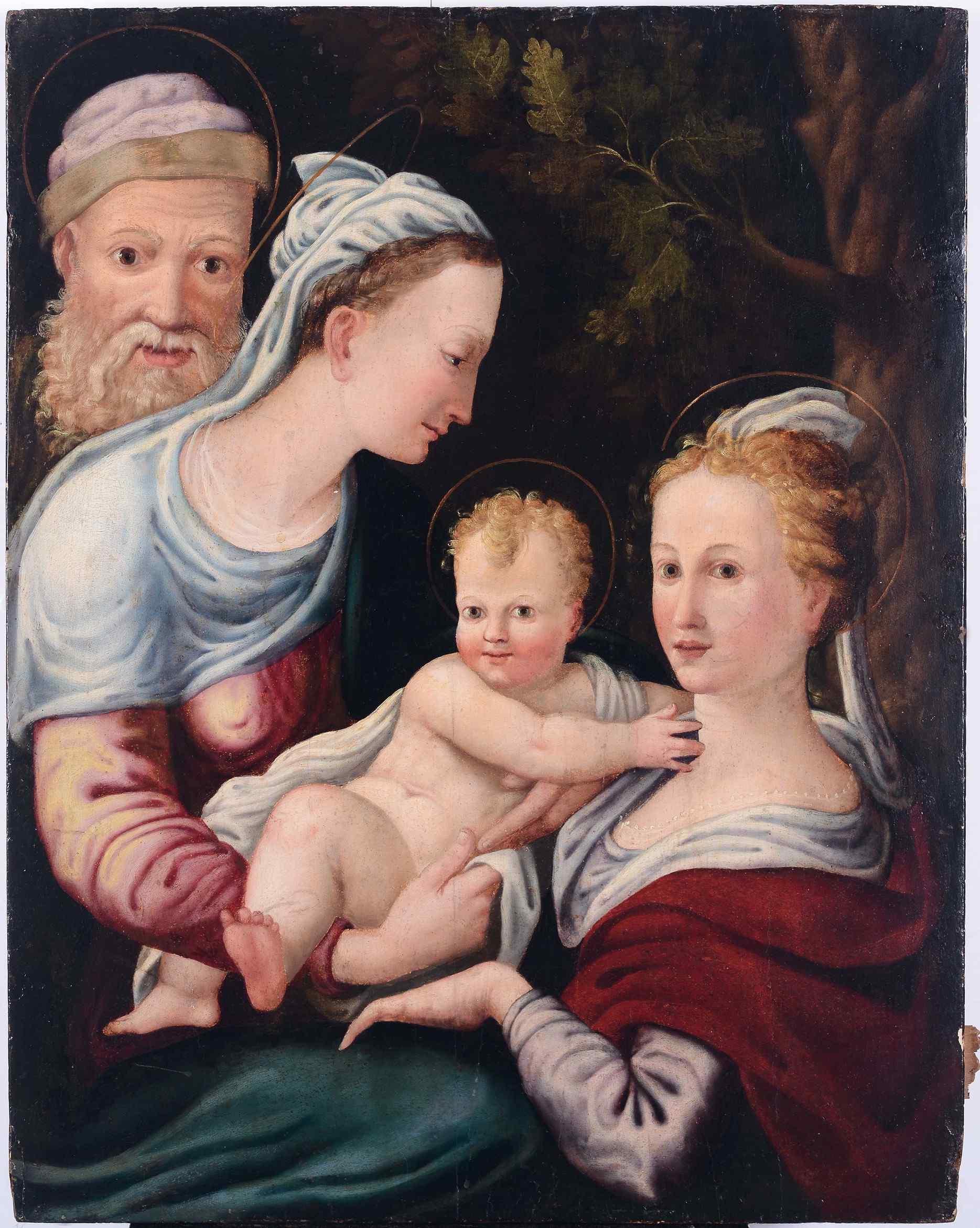 Scuola fiorentina del XVI secolo - Sacra famiglia