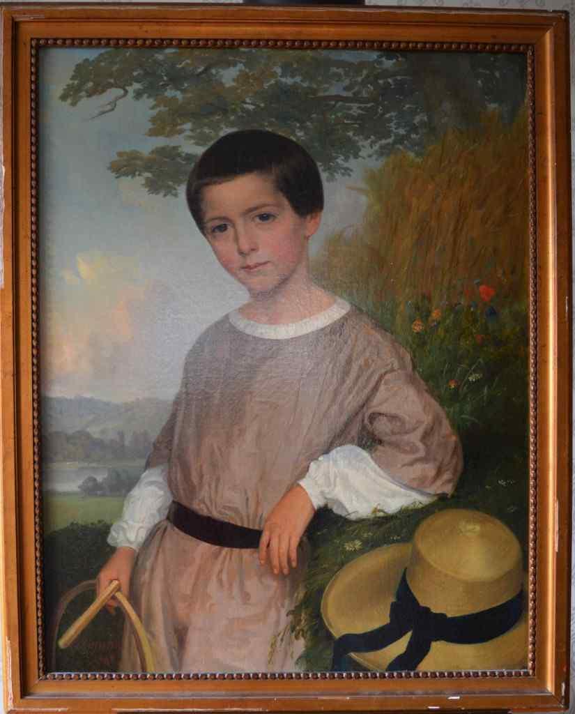 Л. Васселин (XIXth), Ребенок с обручем, 1848.