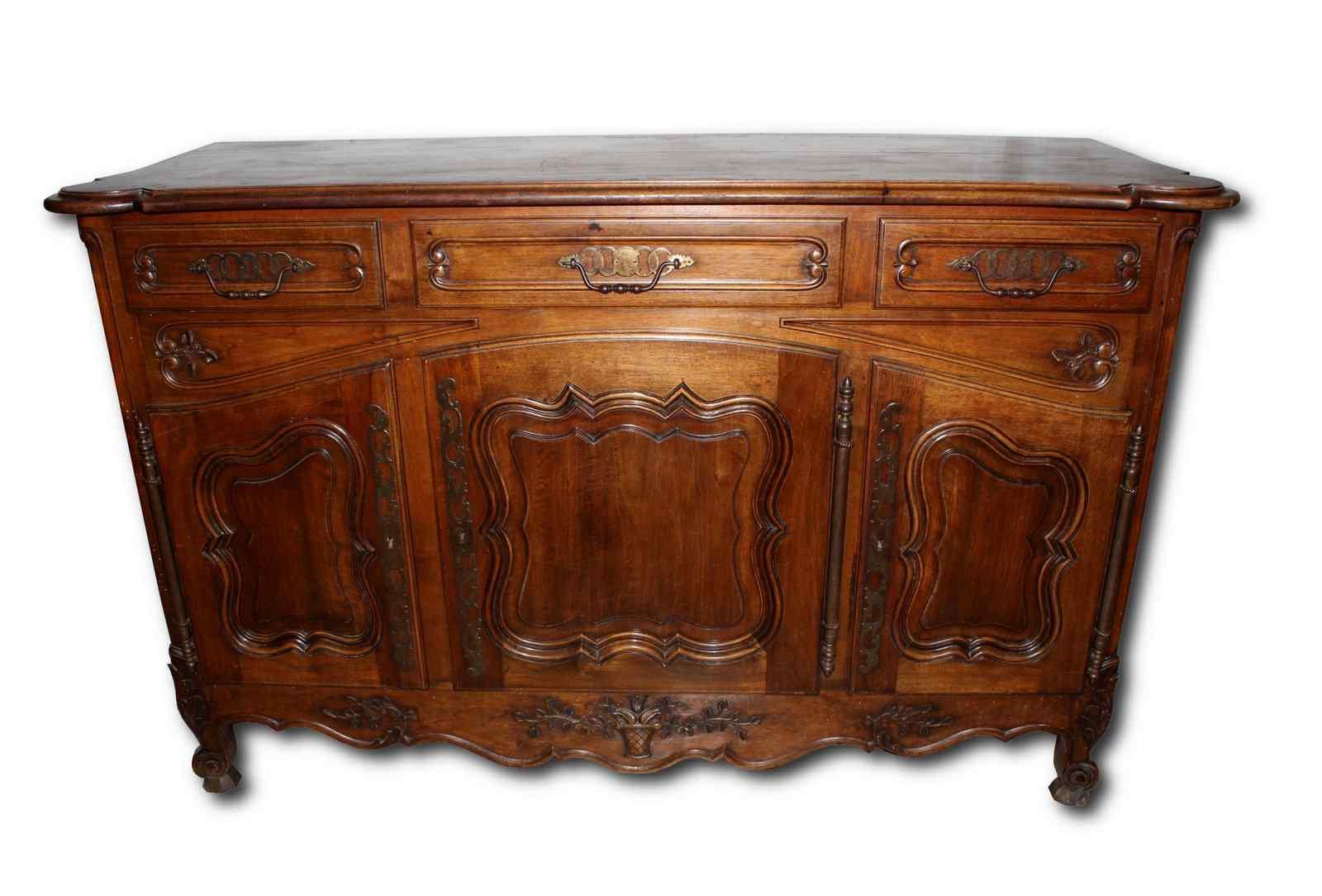 античный туалетный столик 3 Людовиком XV двери стиля