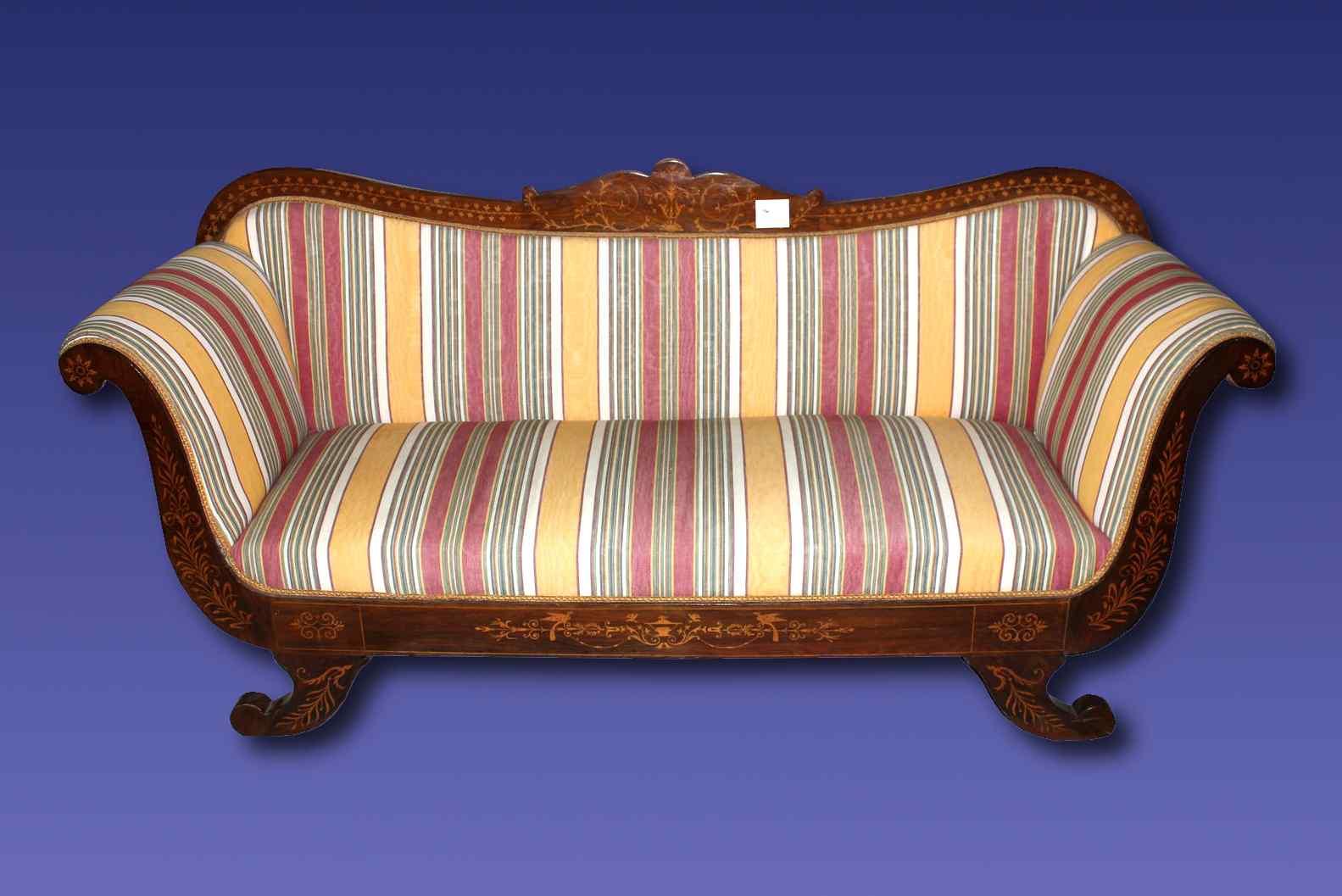 divano antico Carlo X