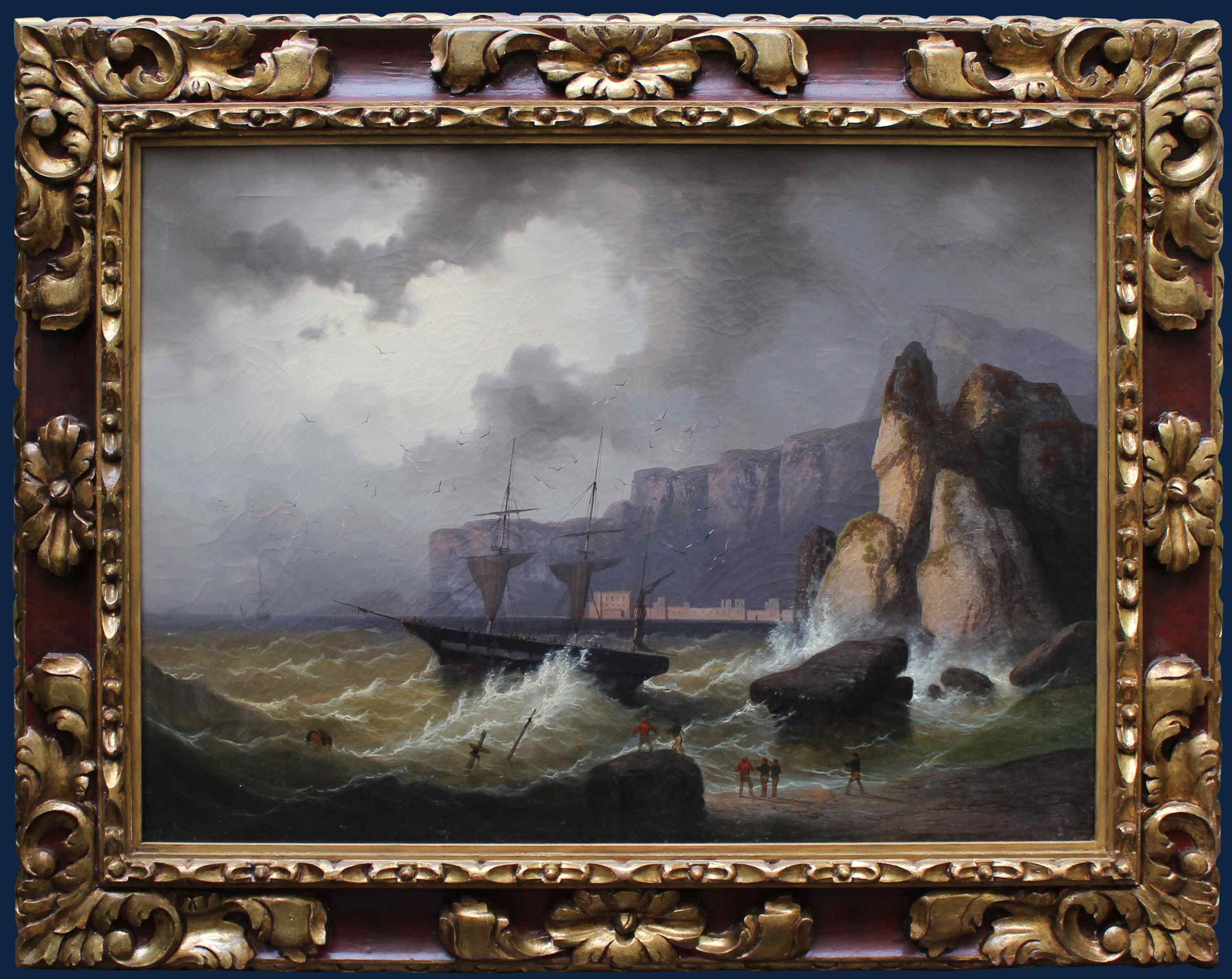XIXe siècle, Huile sur Toile - Marine Vue
