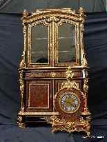 Secretaire Boulle con orologio, XIX secolo-8
