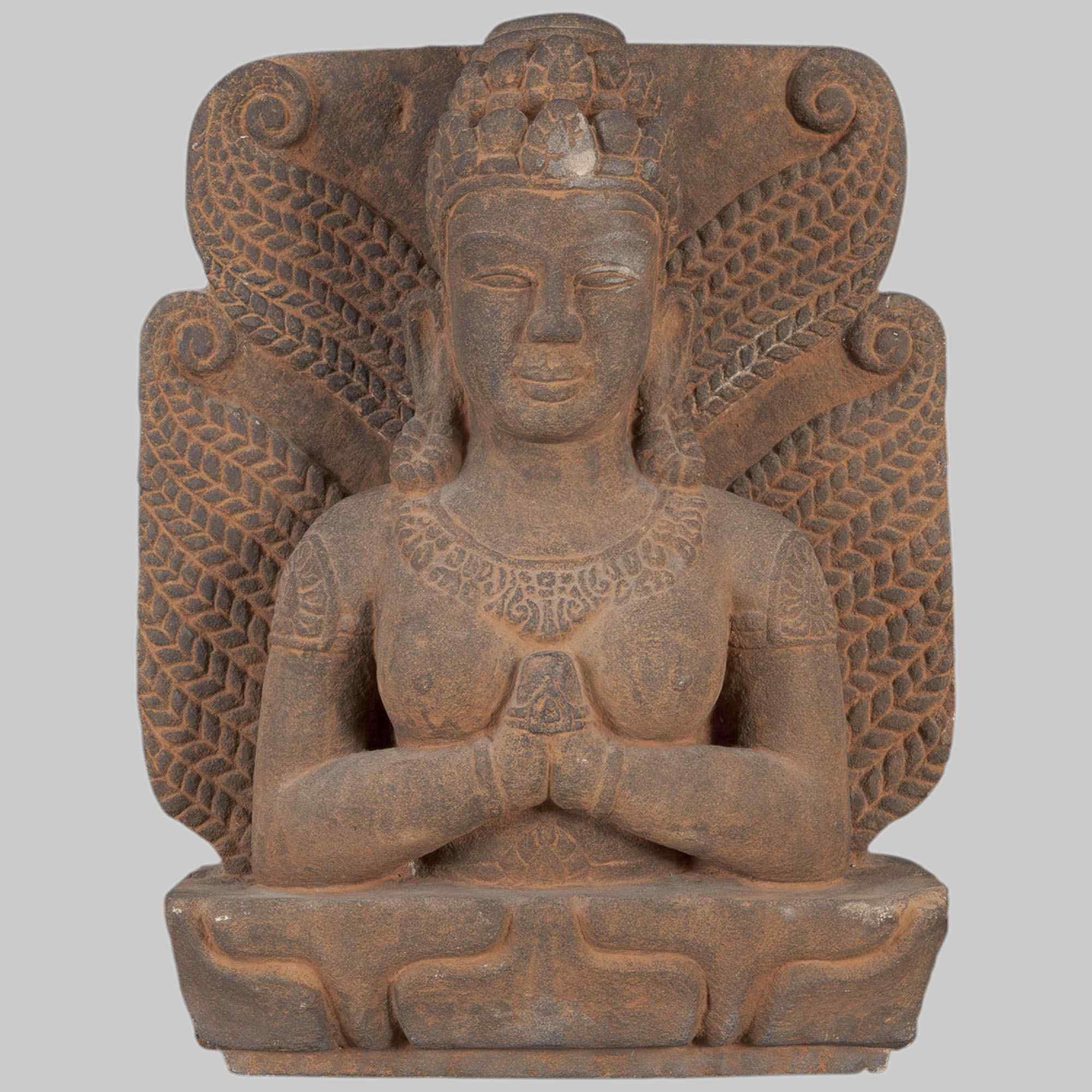 Scultura in pietra di Sri Lakshmi