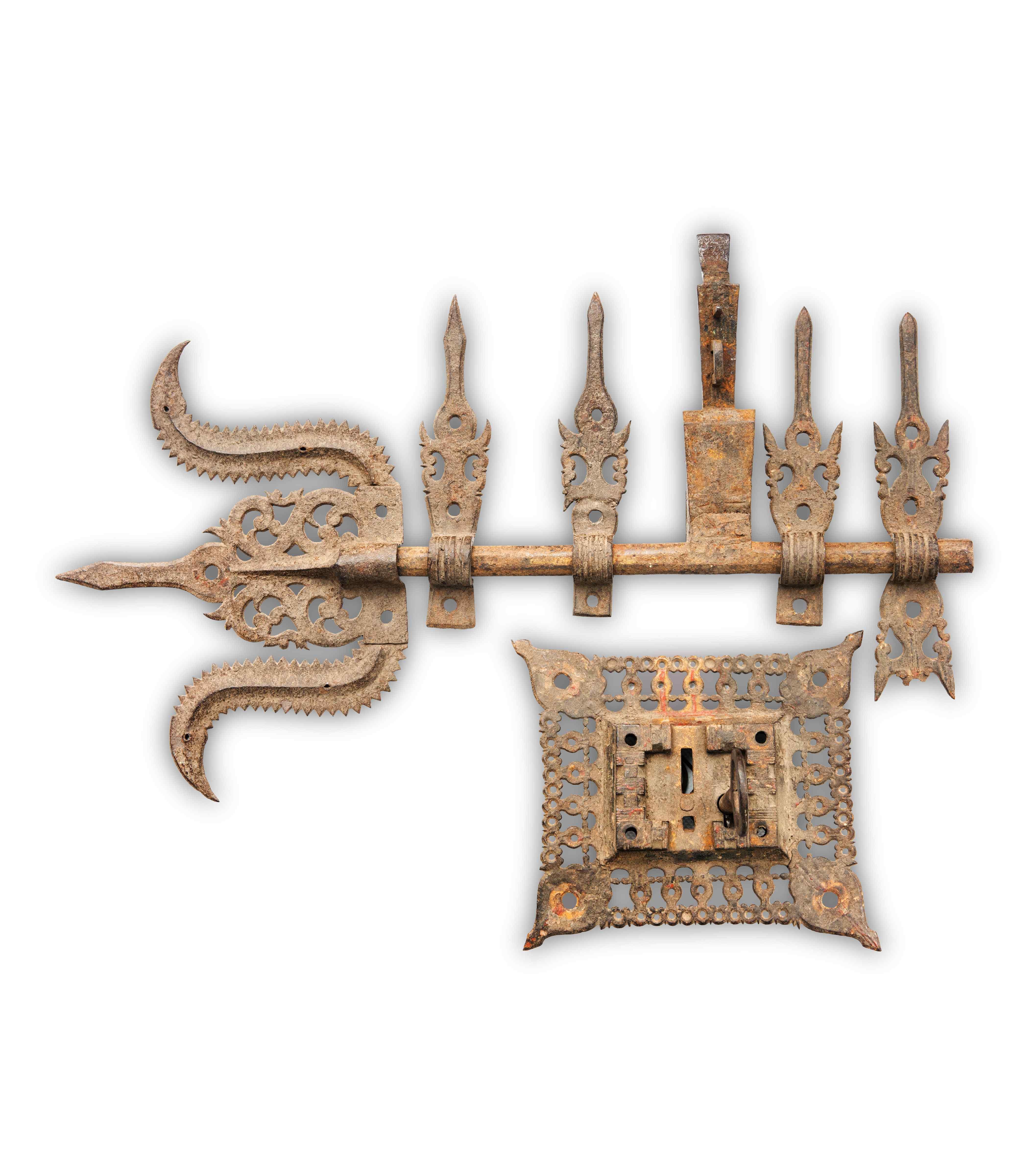 Antica serratura in ferro, India