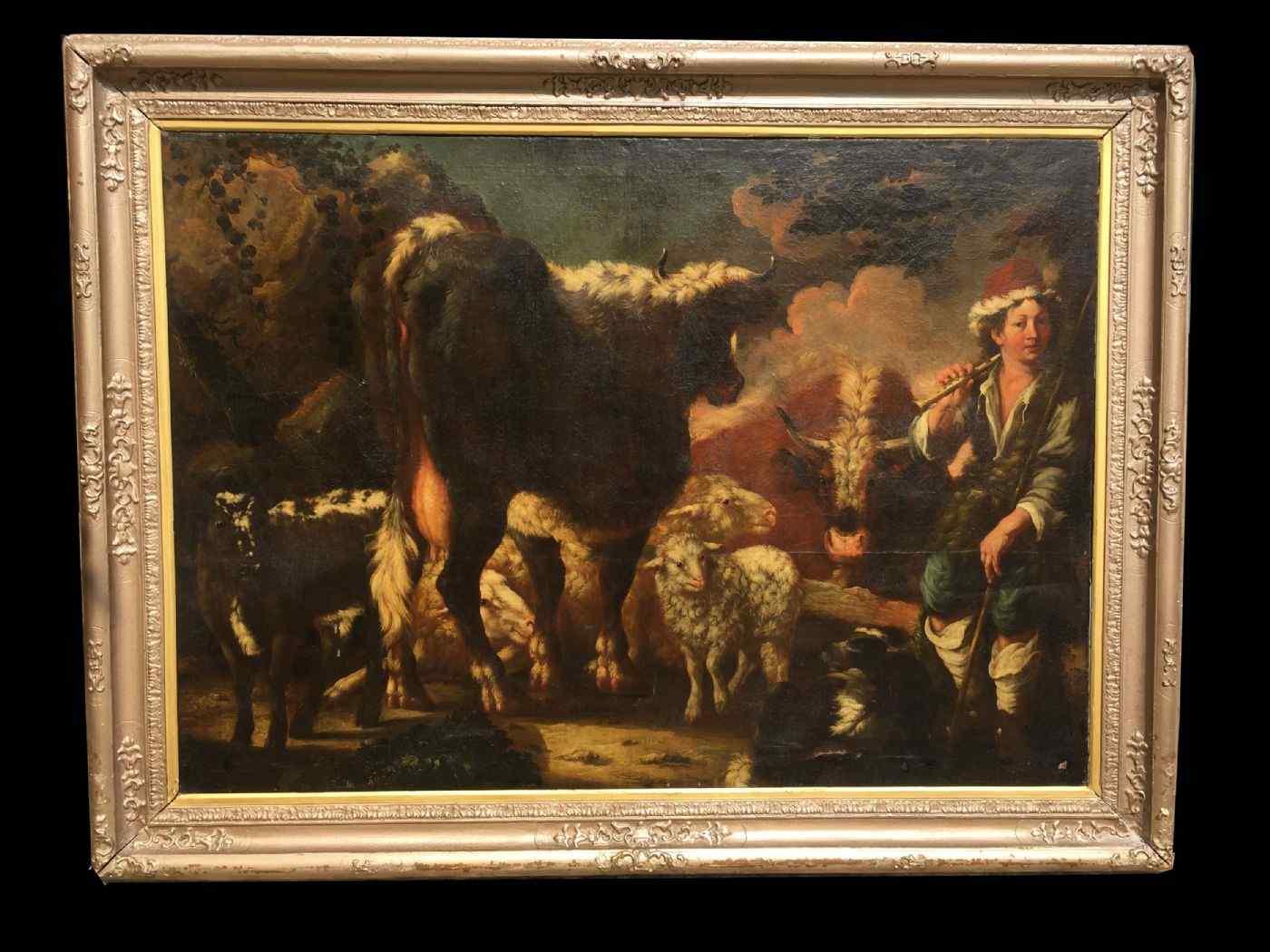 Grande Dipinto, olio su tela, del XVII secolo