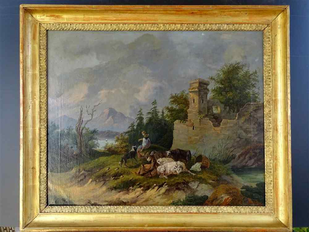 Pastoral Scene In A Mountain Landscape From French School