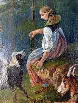 Scena pastorale, quadro scuola francese 18° secolo-6
