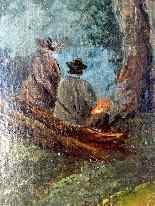 Scena pastorale, quadro scuola francese 18° secolo-12