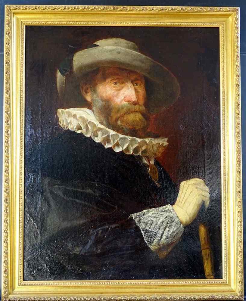 Heinrich Laepple 1834-1885 Antico ritratto di un escursionis