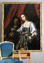 Quadro antico, scuola del Caravaggio - XVII secolo-1