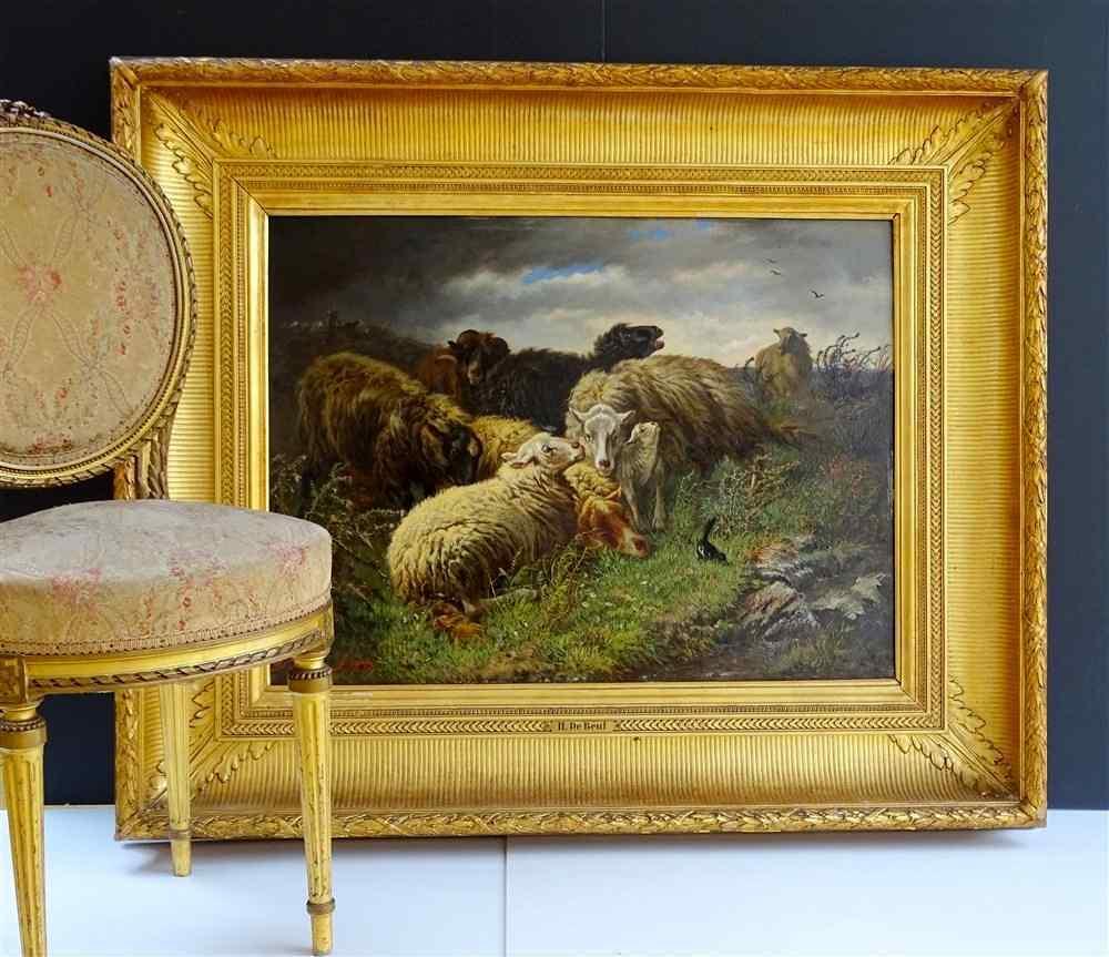 Анри де Beul 1845-1900 Захватывающий Пастырское The Storm