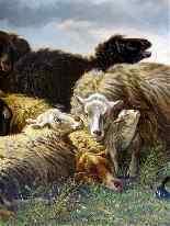 Анри де Beul 1845-1900 Захватывающий Пастырское The Storm-1