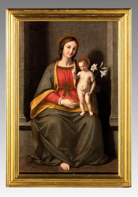 Giovanni Battista Salvi (1609-1685), Vergine in trono
