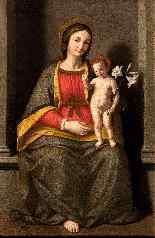 Giovanni Battista Salvi (1609-1685), Vergine in trono-3