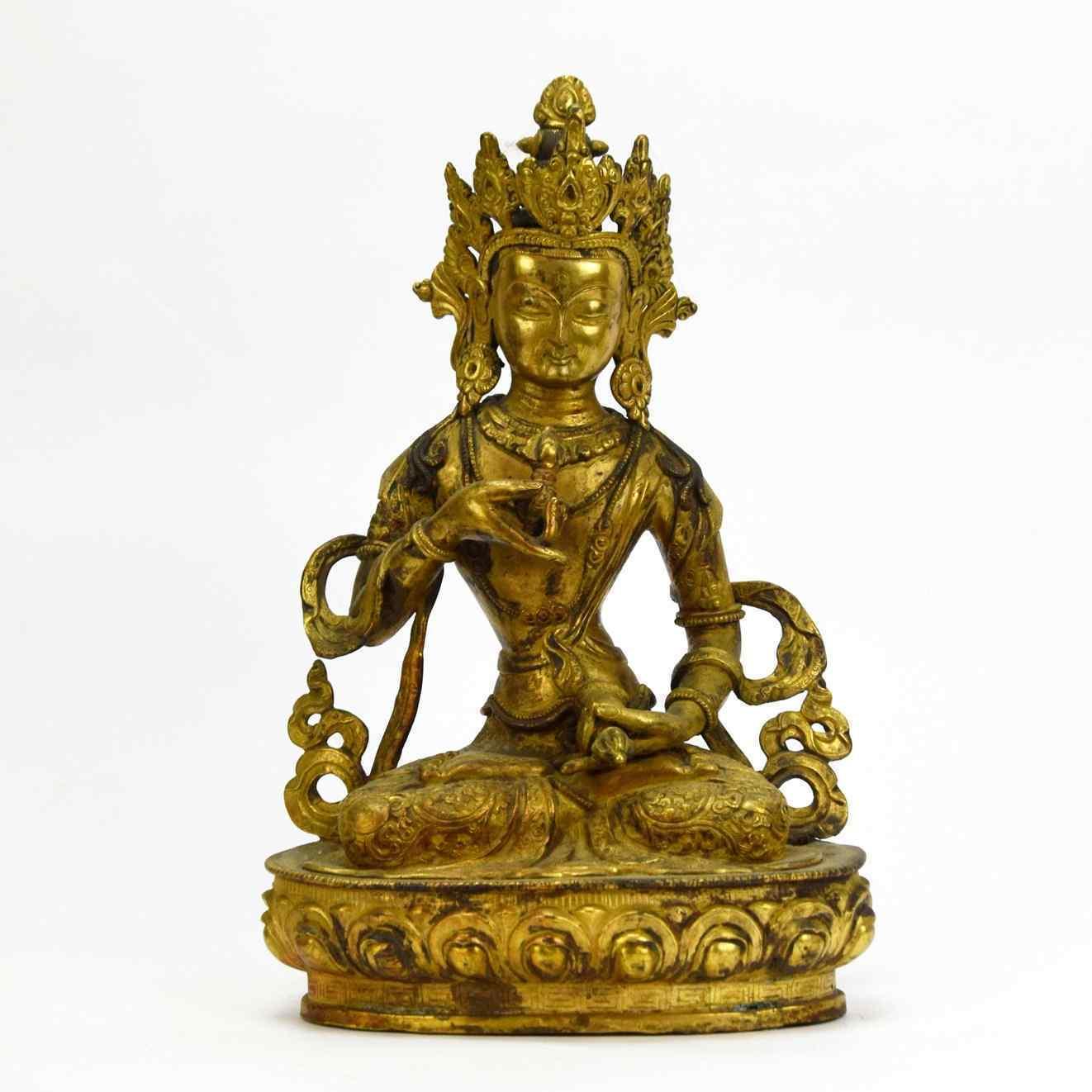 Divinità in bronzo dorato