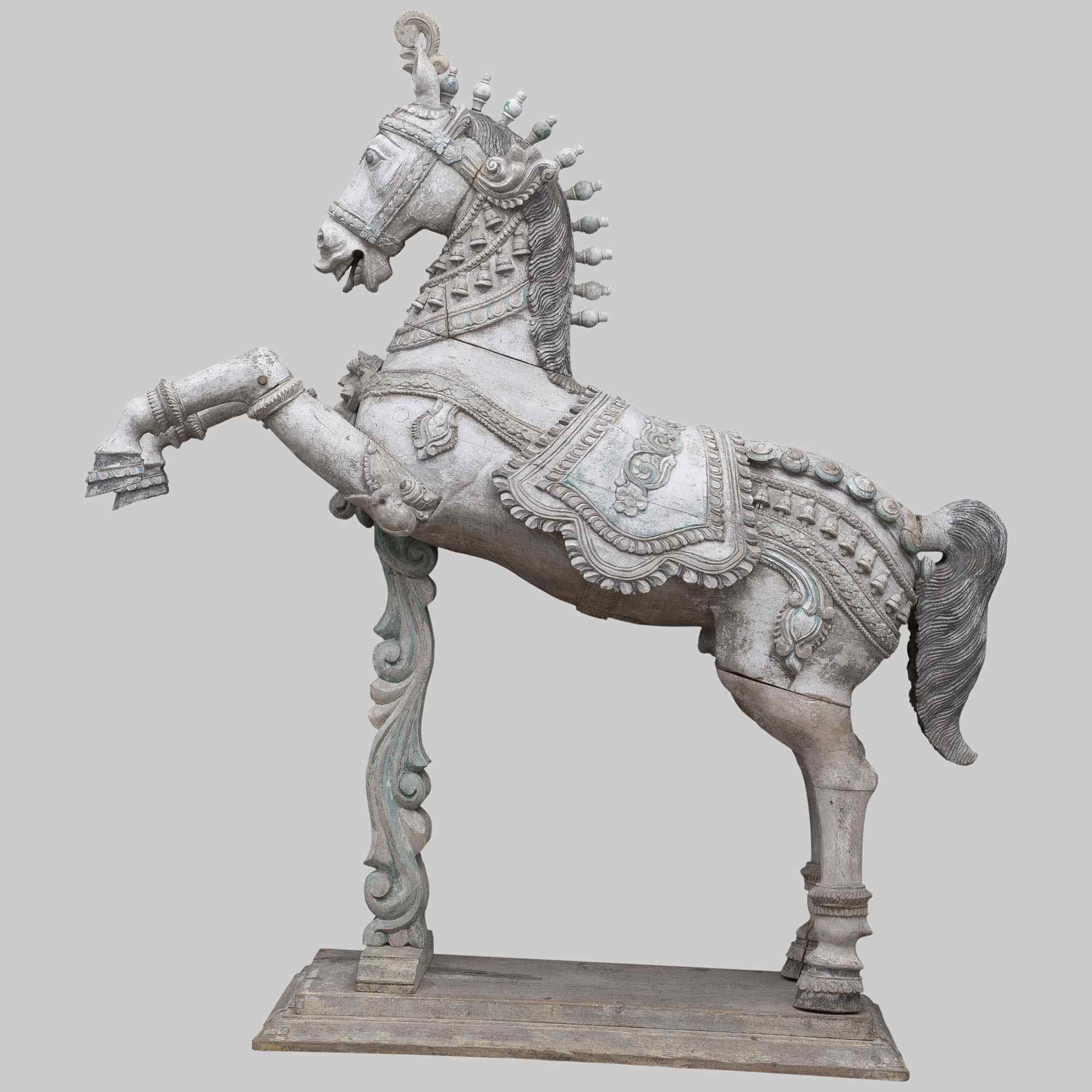 Cavallo intagliato, periodo Moghul, India