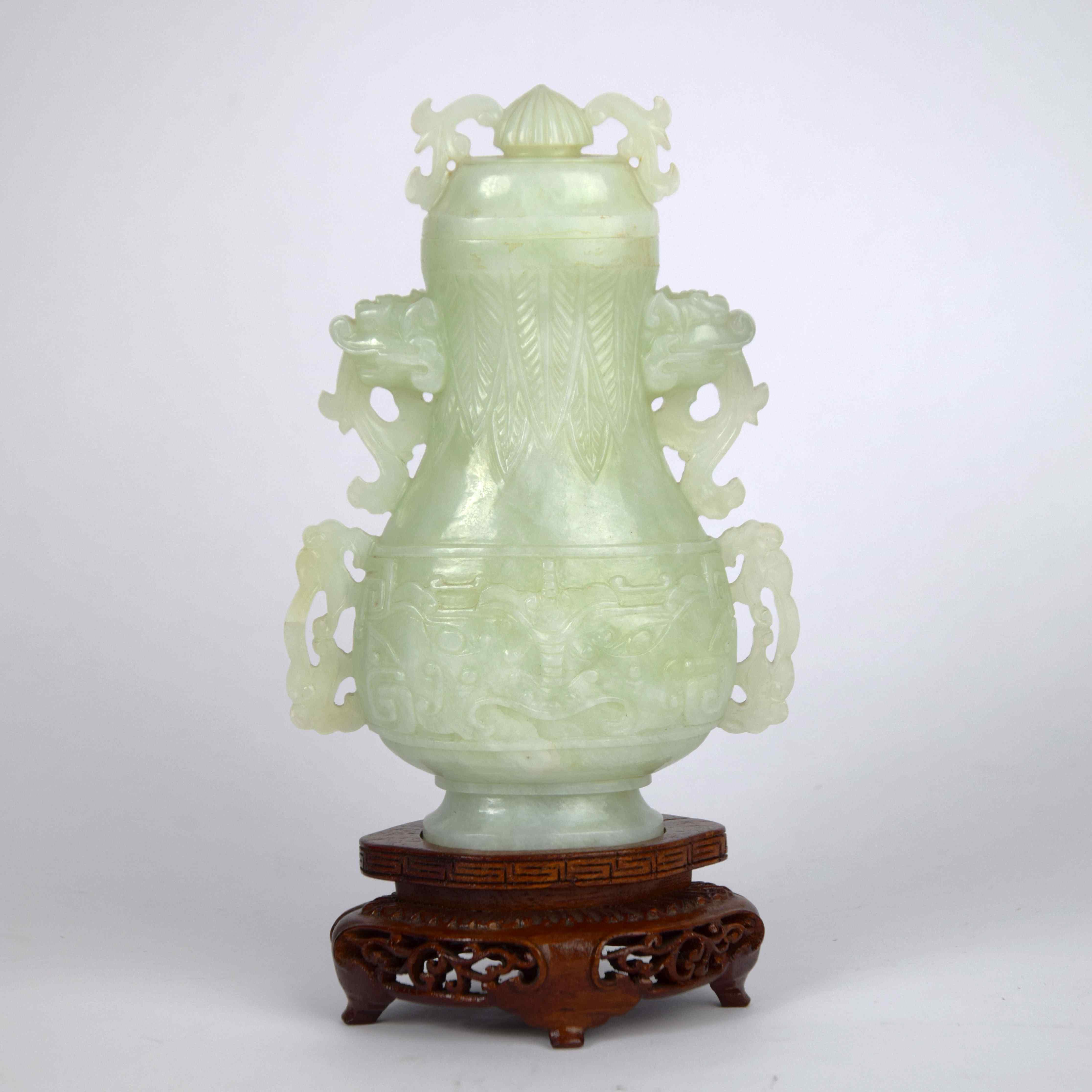 Vaso in Giada celadon