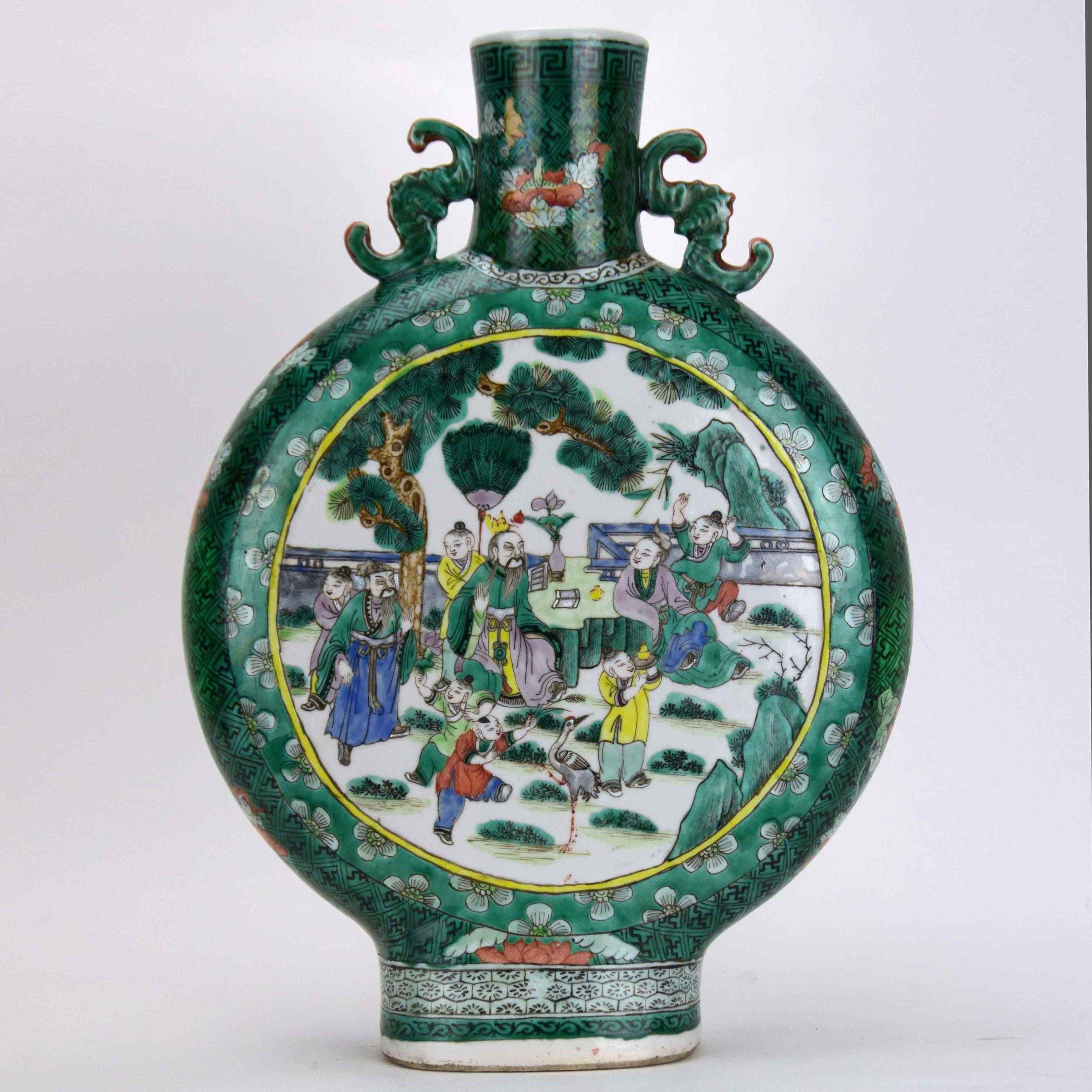 Antico vaso cinese  19° secolo