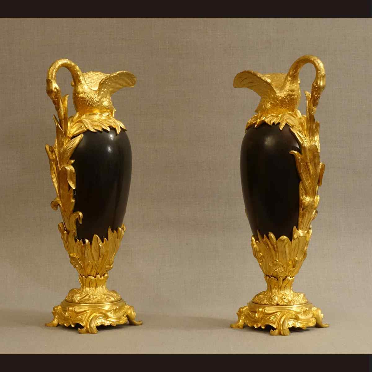 Rare Pair of Louis XVI Style Ewers XIXth