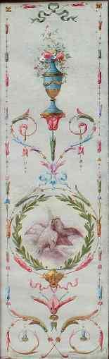 Dix-neuvième siècle, ECRAN grotesque, (5) Huile sur toile-2