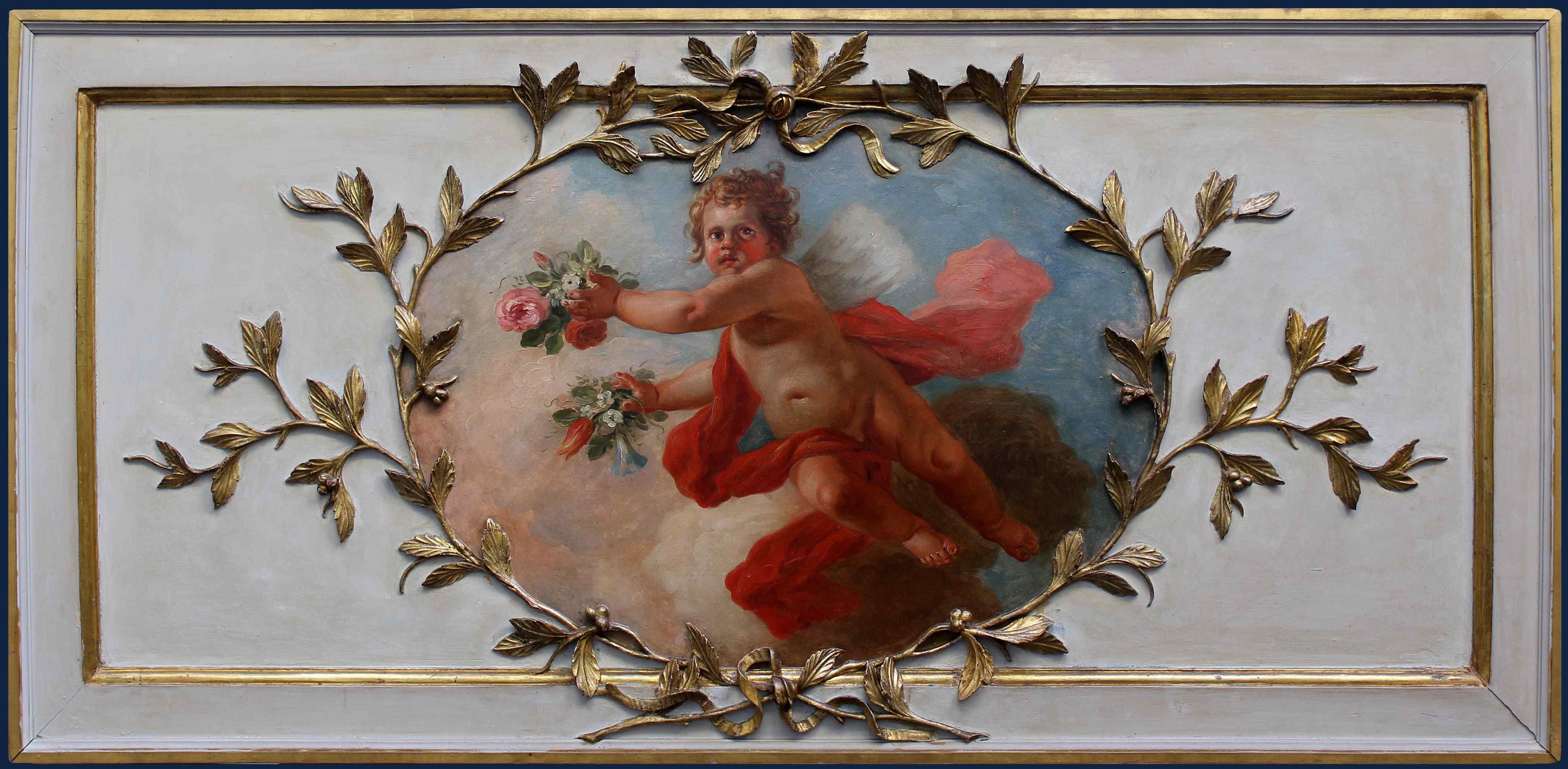 Attr. a Fedele FISCHETTI (1734 - 1789), Putto con bouquet