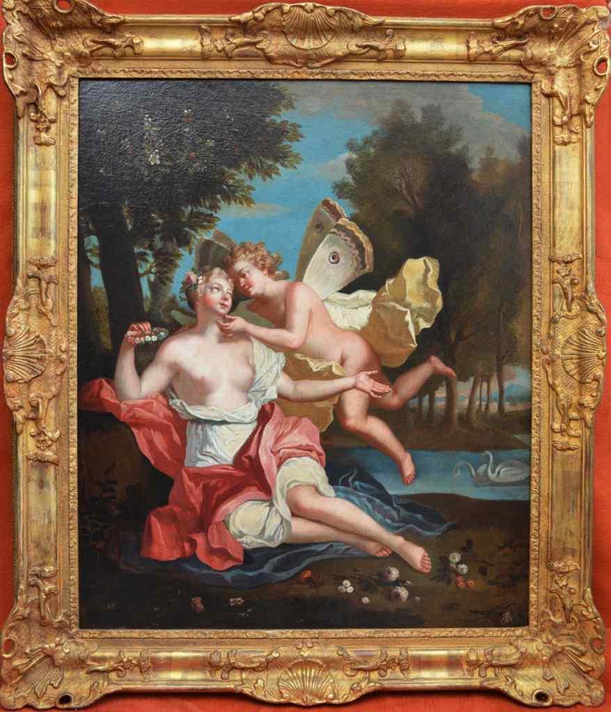 Ecole Du XVIIIème Siècle, Flore Et Amour.