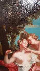 Ecole Du XVIIIème Siècle, Flore Et Amour.-7