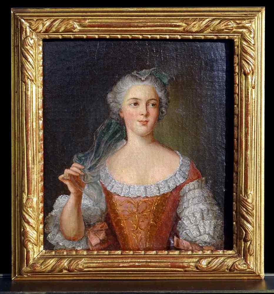 JM Nattier, Portrait De Madame Sophie De France, Hst 18èm