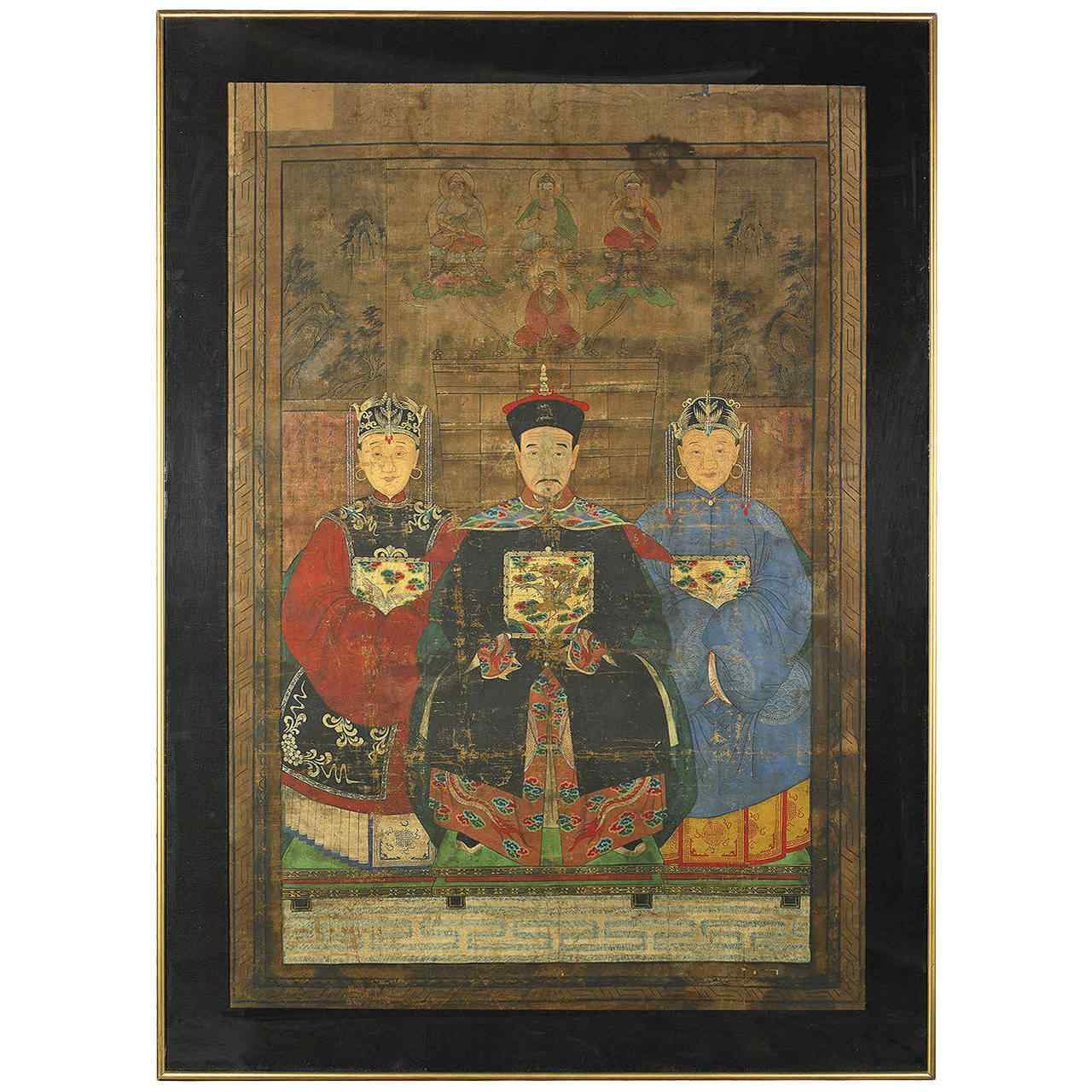 Dignitario imperiale XIX secolo dinastia Qing