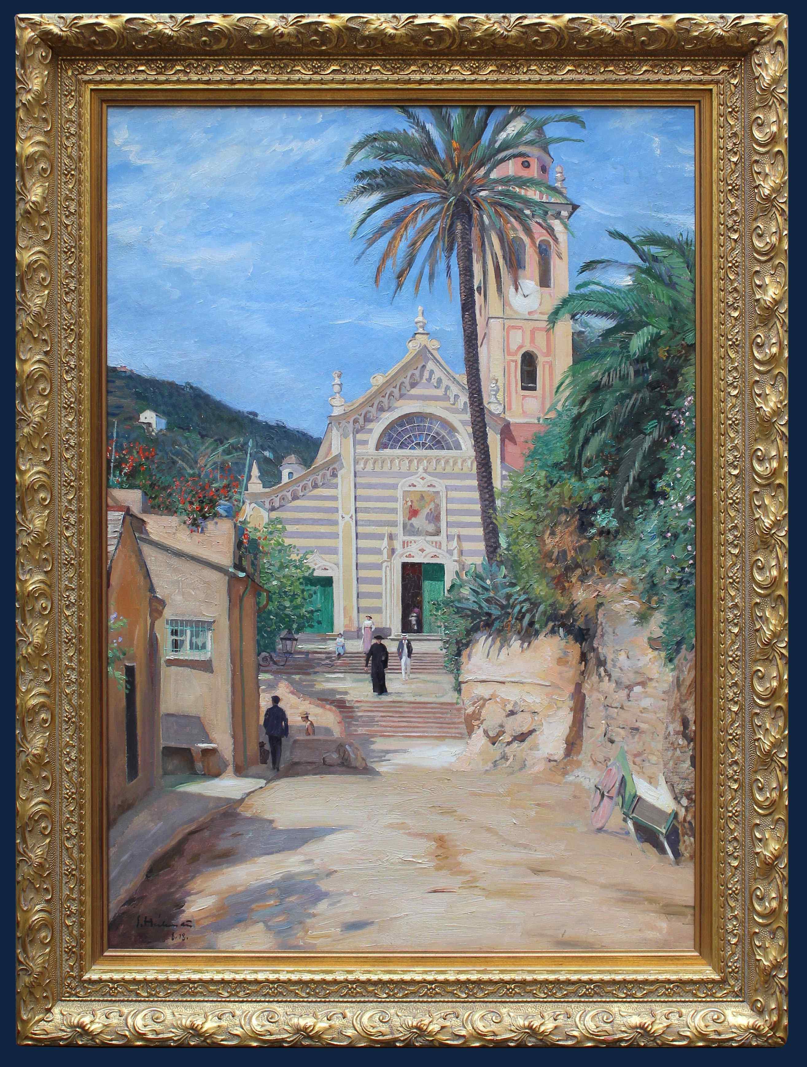 Datato 1913, PORTOFINO, La chiesa di San Martino di Tours
