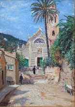 Datato 1913, PORTOFINO, La chiesa di San Martino di Tours-2