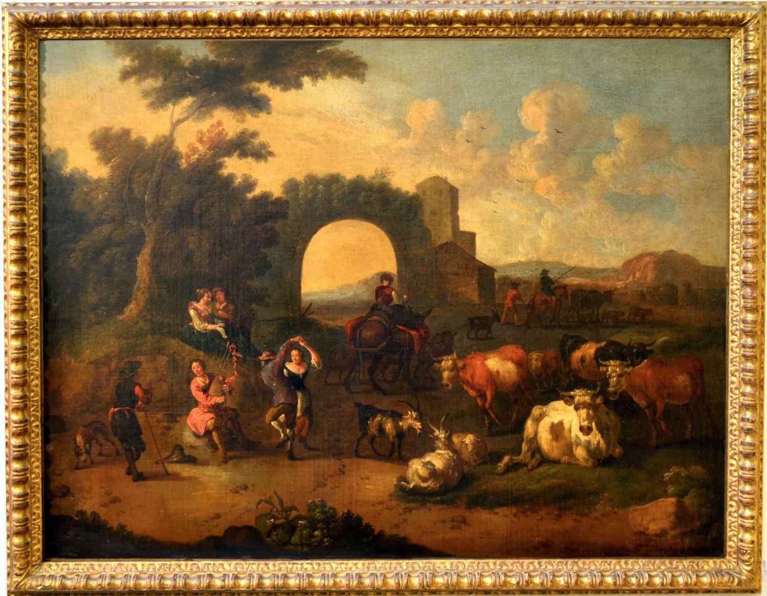 Michelangelo Cerquozzi (Roma 1602 - 1660) bott, Festa rurale