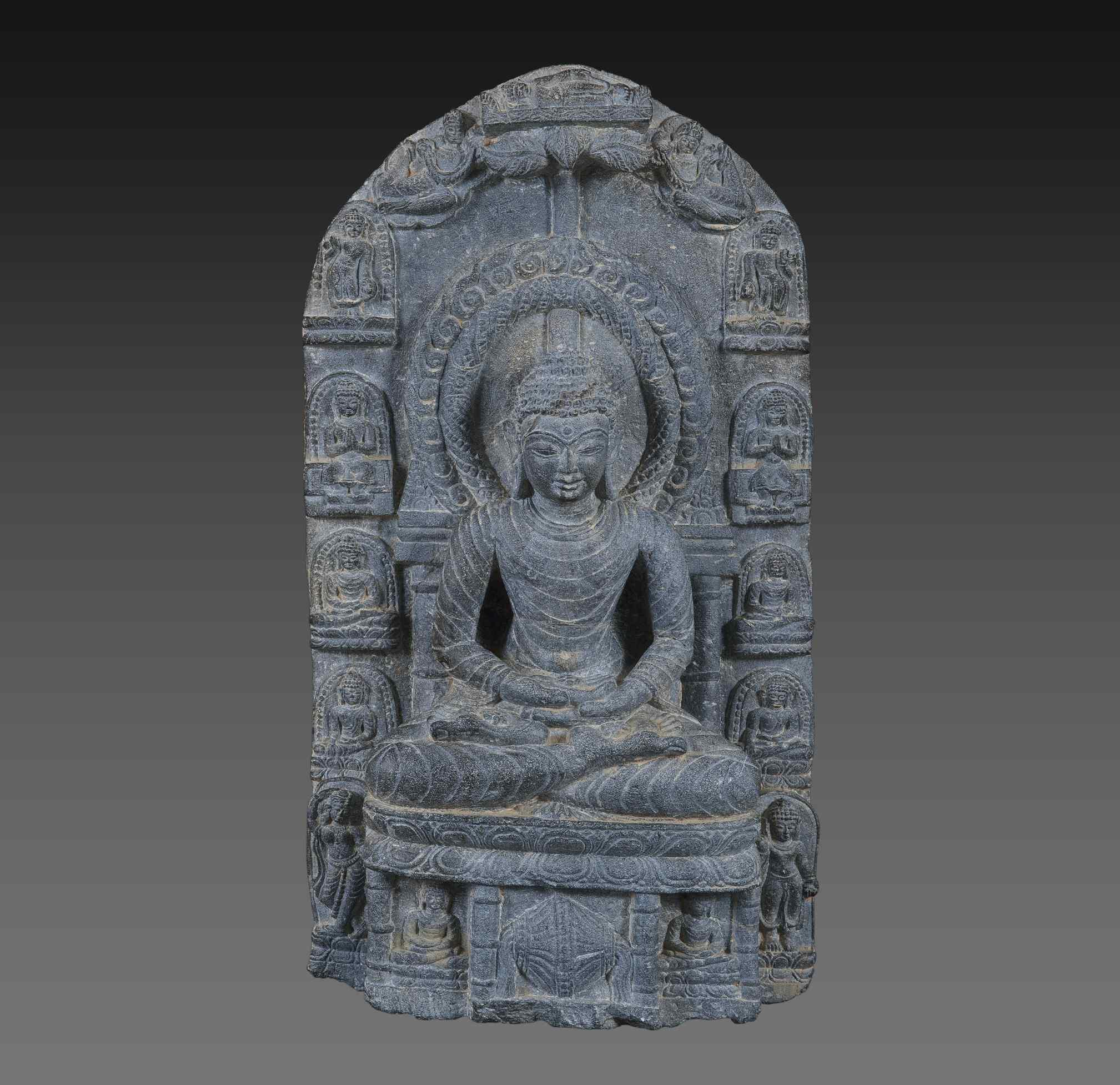 Buddha in Dhyana Mudra, Periodo Pala , India VIII-IX secolo