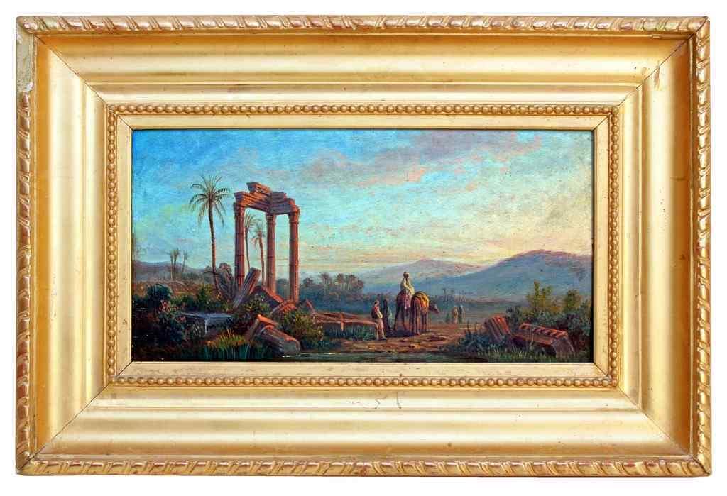 Pittura orientalista firmato HUBER (1895-1960)