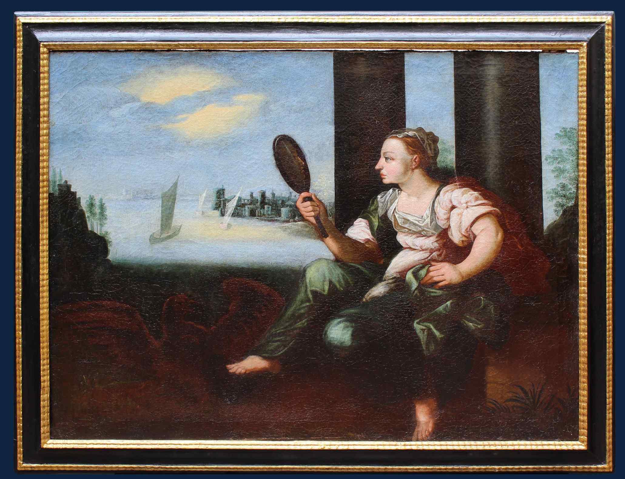 Scuola fiamminga, XVII secolo, ALLEGORIA DELLA VISTA