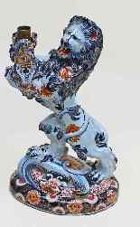 Emile Gallé Nancy coppia di candelabri con i leoni araldici-11