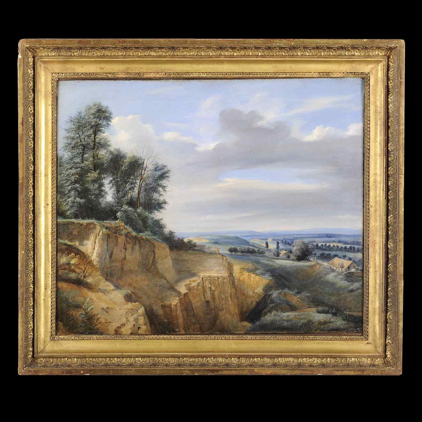 Leon Fleury - attribuito, Paesaggio del XIX secolo