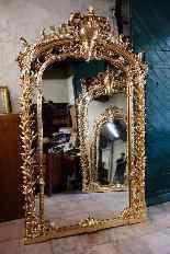 Coppia di antiche e grandi specchiere-3
