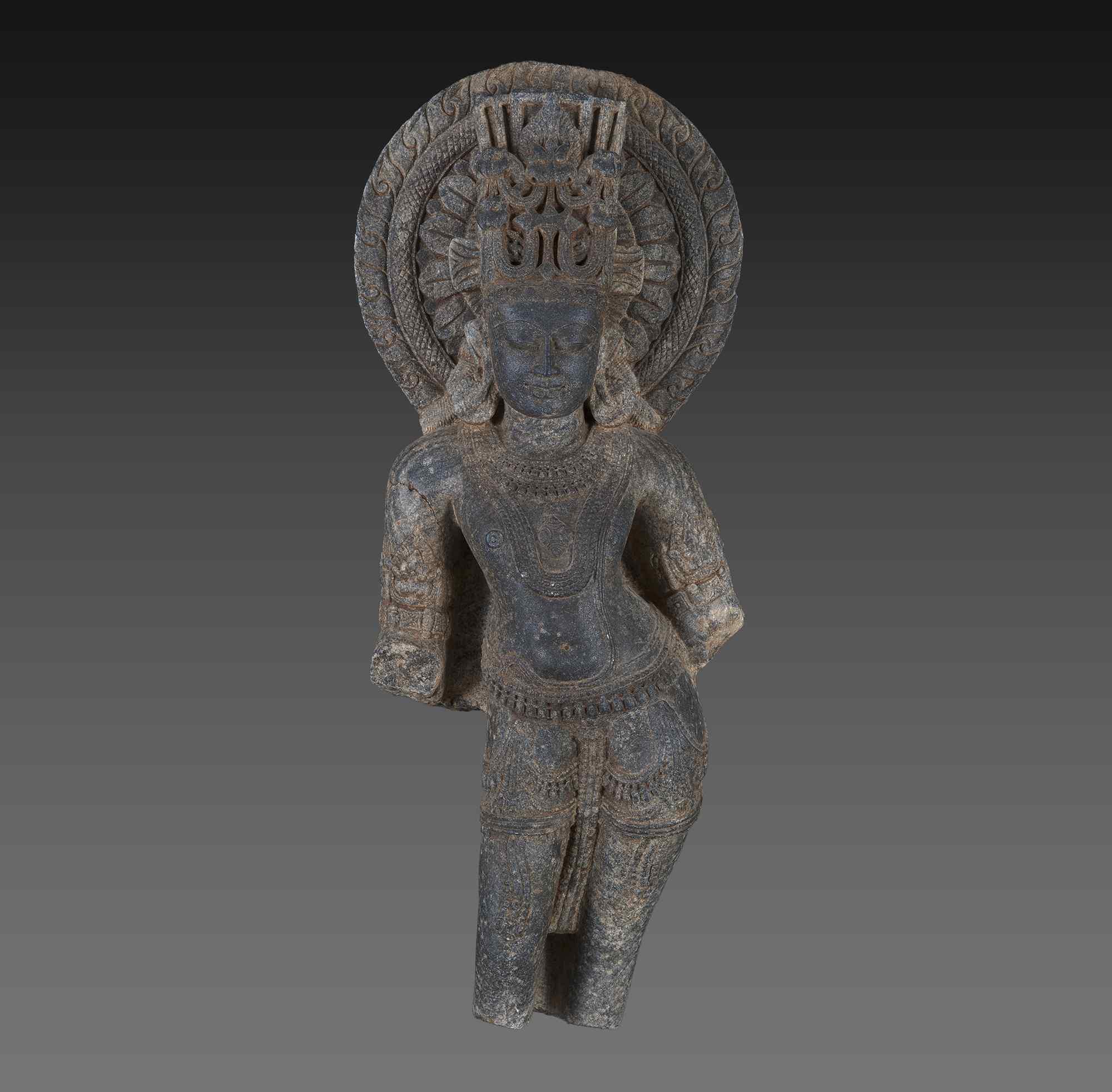 Vishnu in posizione tribhanga, Bihar, India