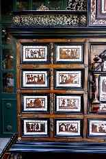Cabinet intarsiato dell'800-11