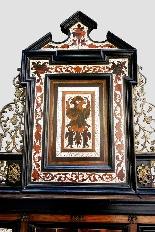 Cabinet intarsiato dell'800-8