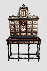 Cabinet intarsiato dell'800-9