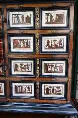 Cabinet intarsiato dell'800-10