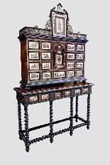 Cabinet intarsiato dell'800-5