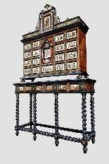 Cabinet intarsiato dell'800-1