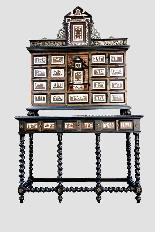 Cabinet intarsiato dell'800-2