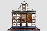 Cabinet intarsiato dell'800-3