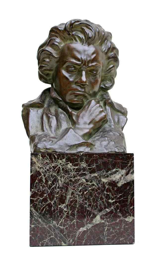Suzanne Bizard (1873-1963) busto in bronzo di Beethoven