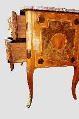 Antico cassettone francese con intarsi del '700-8
