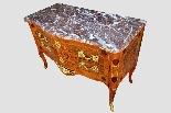 Antico cassettone francese con intarsi del '700-4